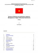 Review of Policies and Institutions Related to Management of Upper Watershed Catchments  , Vietnam