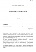 World Bank Participation Sourcebook