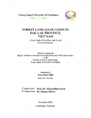 Forest Land Allocation in Dak Lak Province, VietnamA Case Study Of Ea Hleo And Cu Jut, Forest Enterprises