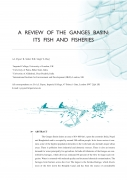 A Review of the Ganges Basin; its Fish and Fisheries