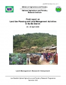 Field report on Land Use Planning and Land Management Activities in Na Mo District. 20   30 April 2003.