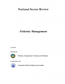 National Sector Review: Fisheries Management