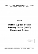 Manual   District Agriculture and Forestry Office (DAFO) Management System
