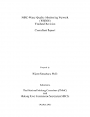 MRC Water Quality Monitoring Network(WQMN):Thailand RivisionConsultancy Report