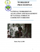 National workshop on allocation and management of natural forest in community forestry