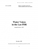 Water Voices in the Lao PDRSummary (Findings and Assessment)