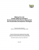 Making the Link: Greater Mekong Subregion Environmental Performance Assessment And Sustainable Development Strategies