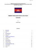 Timber Trade and Wood Flow Study   Cambodia,