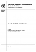 Land Use Impacts on Water Resources