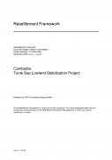 TSLSP Land Acquisition and Resettlement Framework