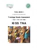 Training Needs Assessment   Keep It Short and Simple (TNA KISS)Tool Book for Agricultural Extension Staff