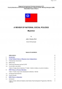 A Review of National Social Policies   Myanmar