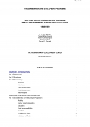Soil and Water Conservation Program Impact Measurement Survey and Evaluation 1988/1989