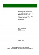 Forestry and Forest Land Management Activities in MRDP in 1996 2000