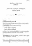 Agriculture & Forestry Development Program for Period 1996 2000