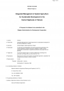Integrated Management of Upland Agriculture for Sustainable Development in the Central Highlands of Vietnam
