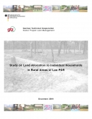 Study on Land Allocation to Individual Households in Rural Areas of Lao PDR