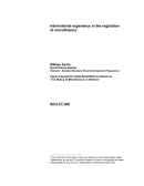 International Experience in the Regulation of Microfinance