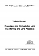 Procedures and Methods for Land Use Planning and Land Allocation