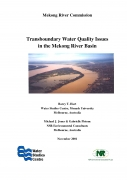 Transboundary Water Quality Issues in the Lower Mekong Basin.