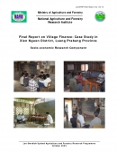 Final Report on Village Finance: Case Study in Xien Nguen District, Luang Prabang Province