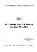 Participatory Land Use Planning and Land Allocation