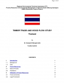 Timber Trade and Wood Flow Study   Thailand
