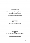 Leaders' Seminar: A New Strategy for Forestry Development Cao Bang